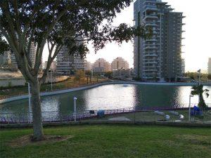 Обновление озера и поющего фонтана в парке Ашдод-Ям