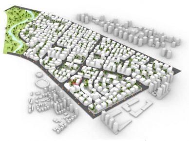 Проект перестройки промзоны в смешанный район