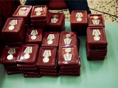 Церемония награждения узников концлагерей в «Бейт Оле Эйтан»