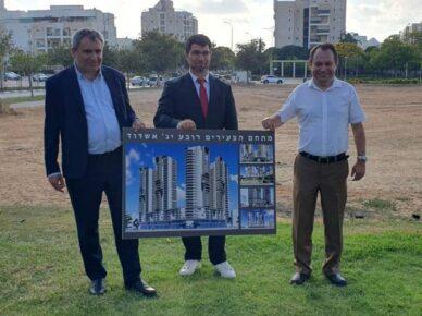 Заместитель мэра Ашдода Эли Нахт встретился с министром жилищного строительства Зеевом Элькиным