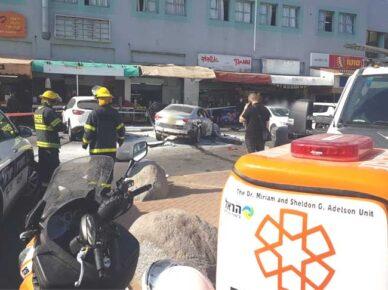 Взрыв машины в торговом центре района юд-гимель